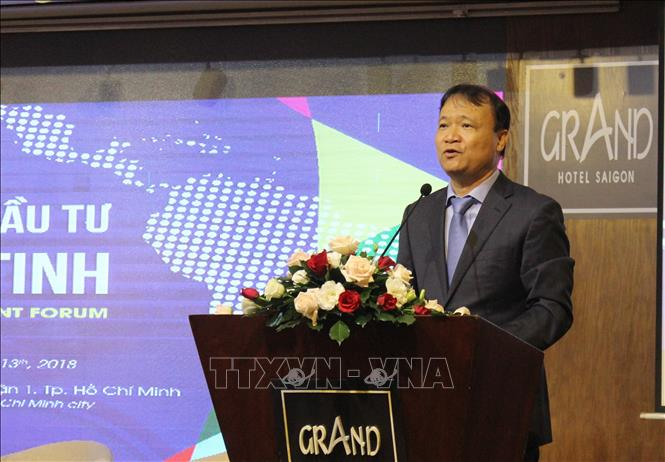 Photo: Deputy Minister of Industry and Trade Do Thang Hai speaks at the forum. VNA Photo: Xuân Anh