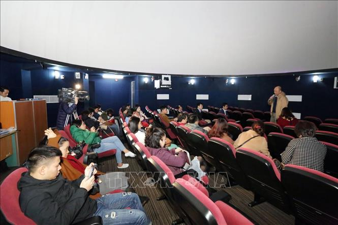 Photo: Hoa Lac Observatory's 100-seat planetarium is on a trial operation. VNA Photo: Anh Tuấn
