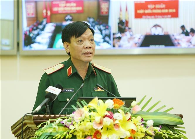 Hội nghị trực tuyến toàn quốc tập huấn Luật Quốc phòng năm 2018 - Ảnh thời sự trong nước - Nội chính & Ngoại giao - Thông tấn xã Việt Nam (TTXVN)