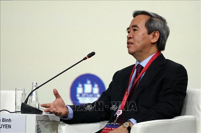 Trong ảnh: Đồng chí Nguyễn Văn Bình, Ủy viên Bộ Chính trị, Bí thư Trung ương Đảng, Trưởng ban Kinh tế Trung ương phát biểu tại lễ khai mạc. Ảnh: Hồng Quân - PV TTXVN tại Nga