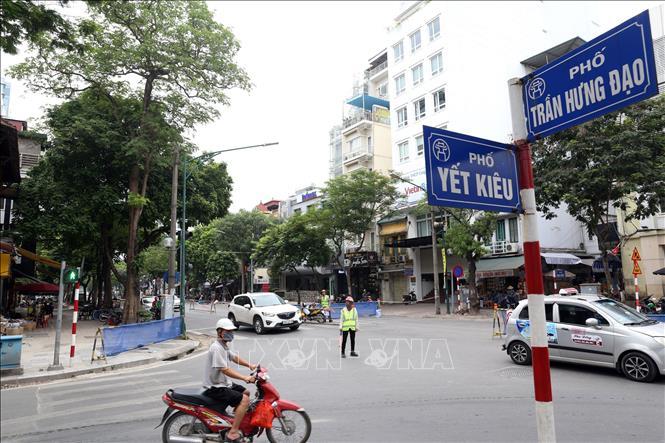 Hà Nội rào chắn phố Trần Hưng Đạo để phục vụ thi công nhà ga ngầm tuyến  đường sắt đô thị Nhổn - ga Hà Nội - Ảnh thời sự trong nước -
