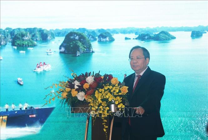 Photo: Vietnam's Deputy Minister of Finance Do Hoang Anh Tuan addresses the meeting. VNA Photo: Phạm Hậu
