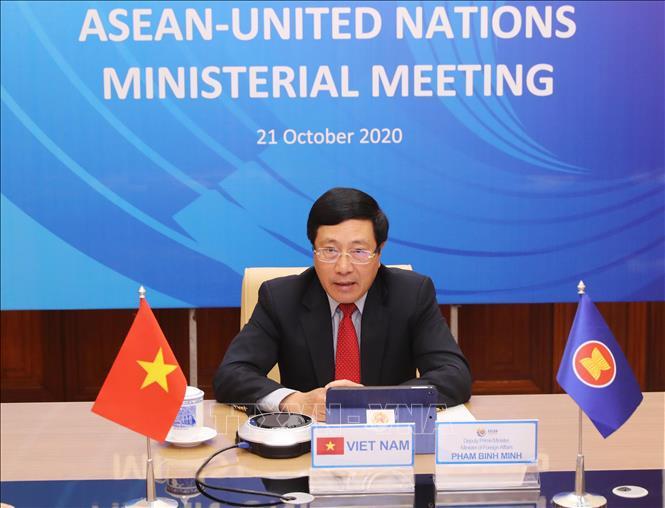 Phó Thủ tướng Phạm Bình Minh chủ trì Hội nghị Bộ trưởng Ngoại giao ASEAN - Liên  hợp quốc - Ảnh thời sự trong nước - Nội chính & Ngoại giao -